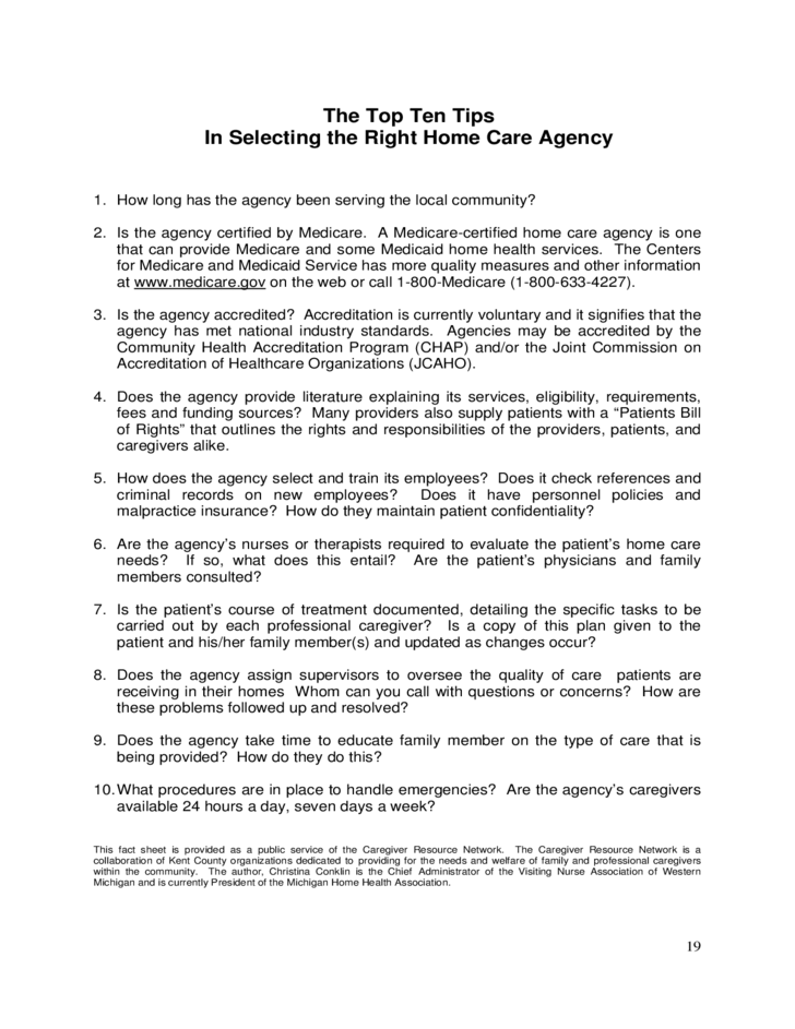 hiring formal caregivers for in-home services
