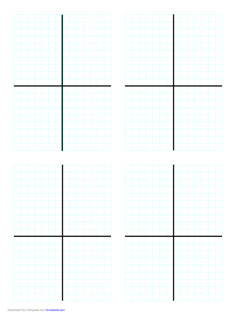 Cartesian Graph (Four Per Page)