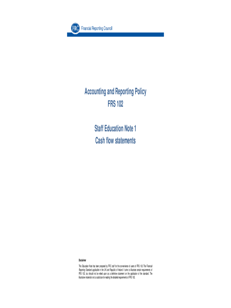 Cash Flow Statement - Financial Reporting Council Free Download