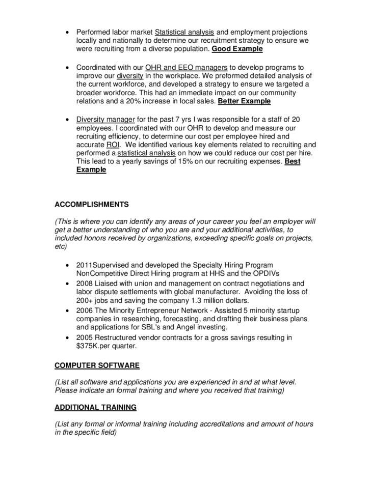 federal resume samples format juve cenitdelacabrera co