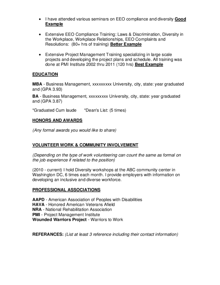 federal resume template free download
