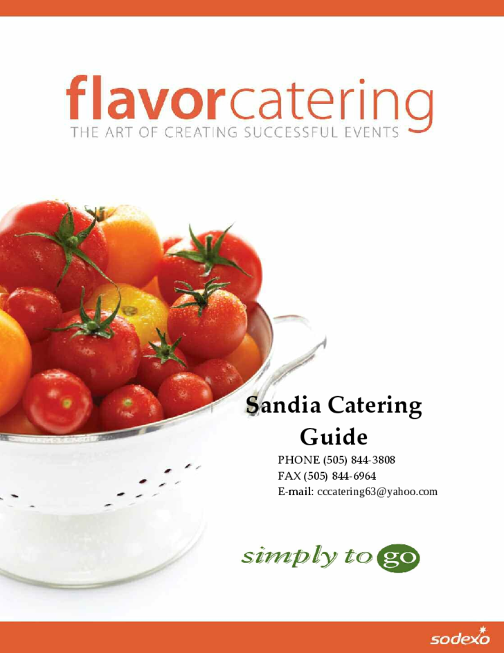 sandia catering brochure templates free download