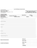 Sample Catering Invoice Template Free Download