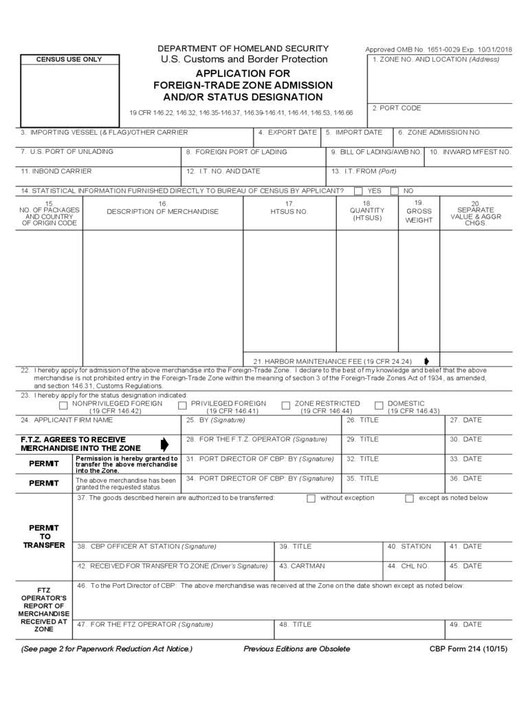 CBP Trade Form - 64 Free Templates in PDF, Word, Excel Download