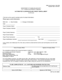 CBP Form 401 - Automated Clearinghouse Credit Enrollment