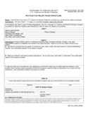 CBP Form 4630 - Petition for Relief from Forfeiture