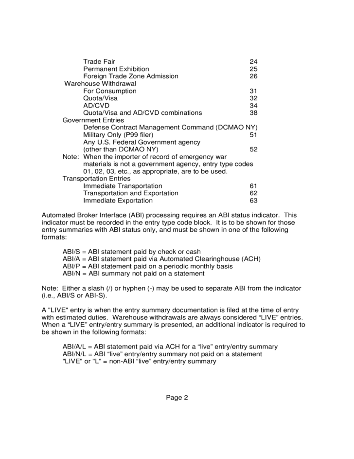 Cbp Form 7501 Instructions Free Download