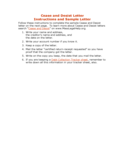 Cease and Desist Letter Free Download