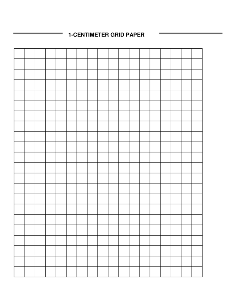 1-Centimeter Graph Paper Template