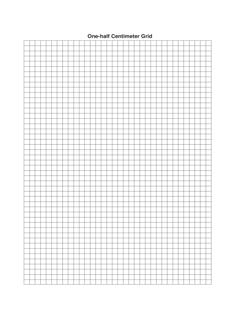 One-half Centimeter Graph Paper Template