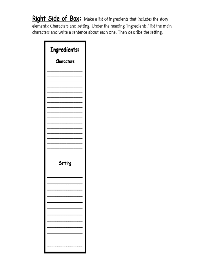 sample cereal box book report template free download