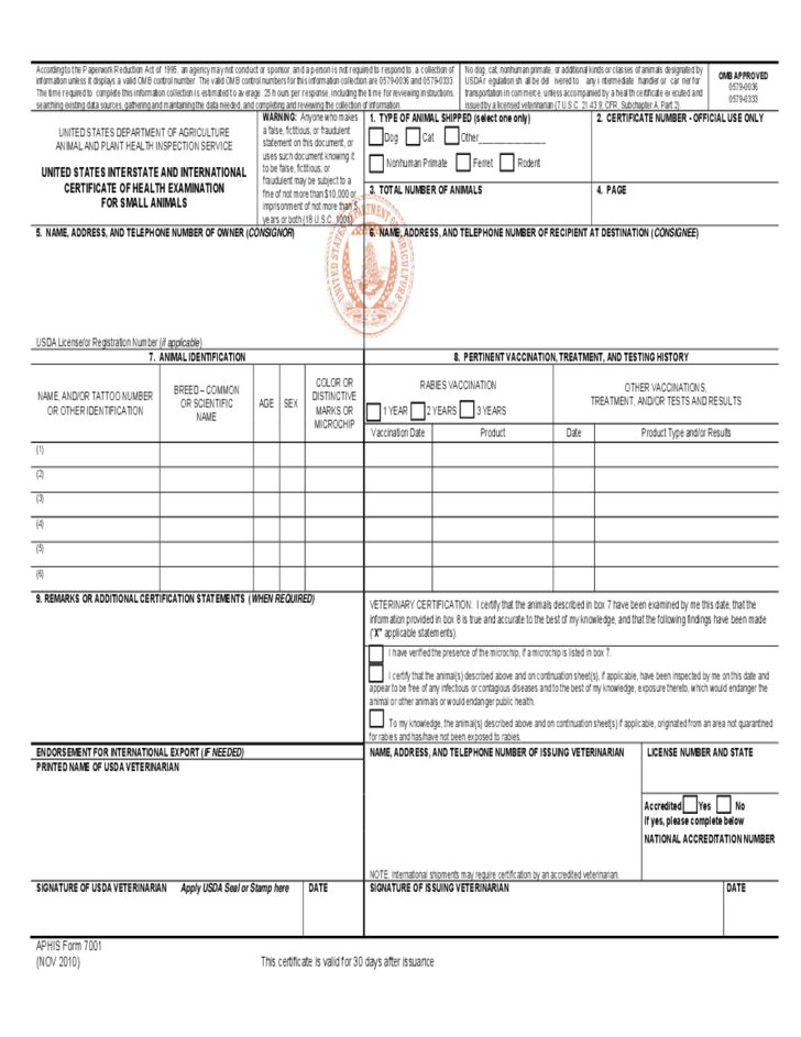 certificate collection form