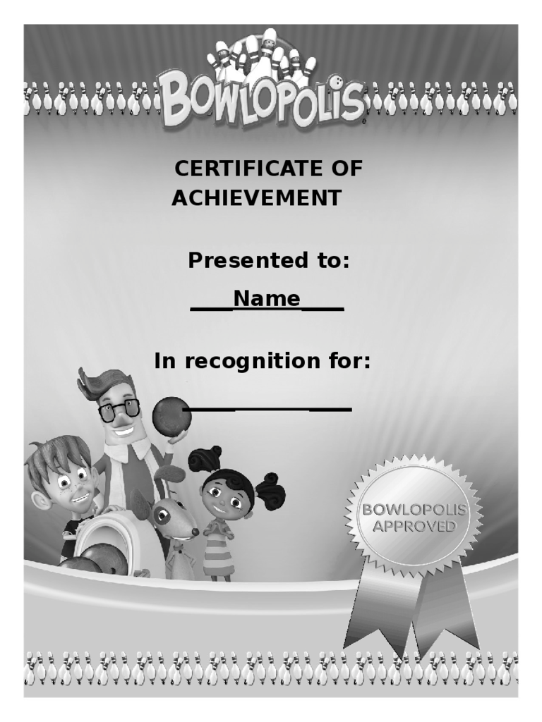 Best Certificate of Achievement Template