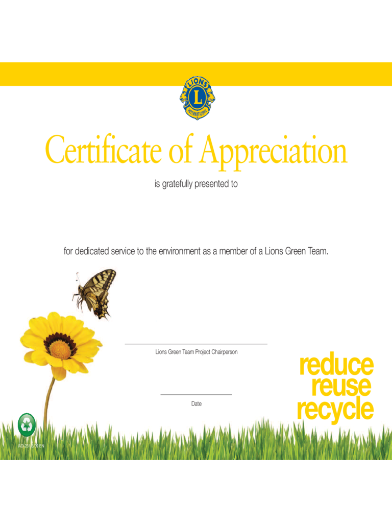 Creative Certificate of Appreciation Template