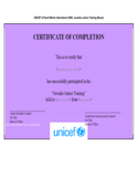 Blank Certificate of Completion Template Free Download