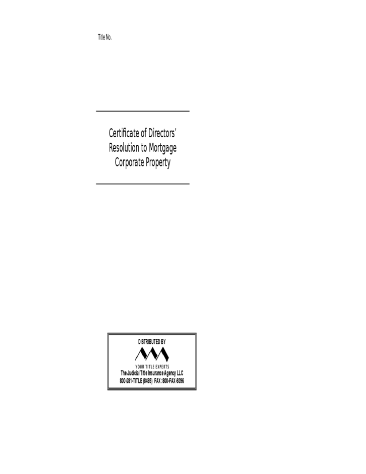 Corporate Resolution Forms