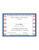 Certificate of Excellence for Students Free Download