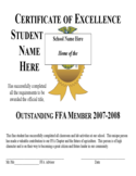 Blank Certificate of Excellence Template Free Download