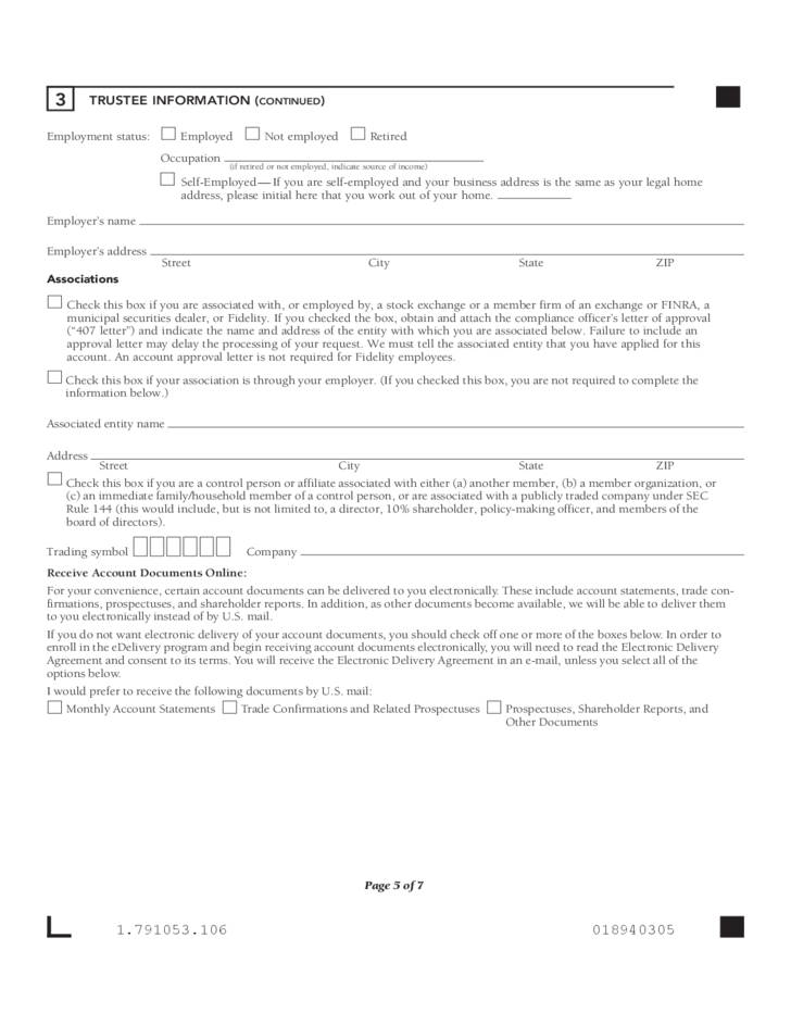 Trustee Certification Form Fidelity Investment Free Download