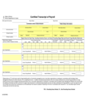 Certified Transcript of Payroll - Illinois