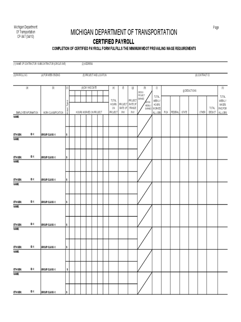 certified payroll form 31 free templates in pdf word excel download