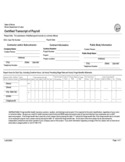 Labor Certified Transcript of Payroll - Illinois