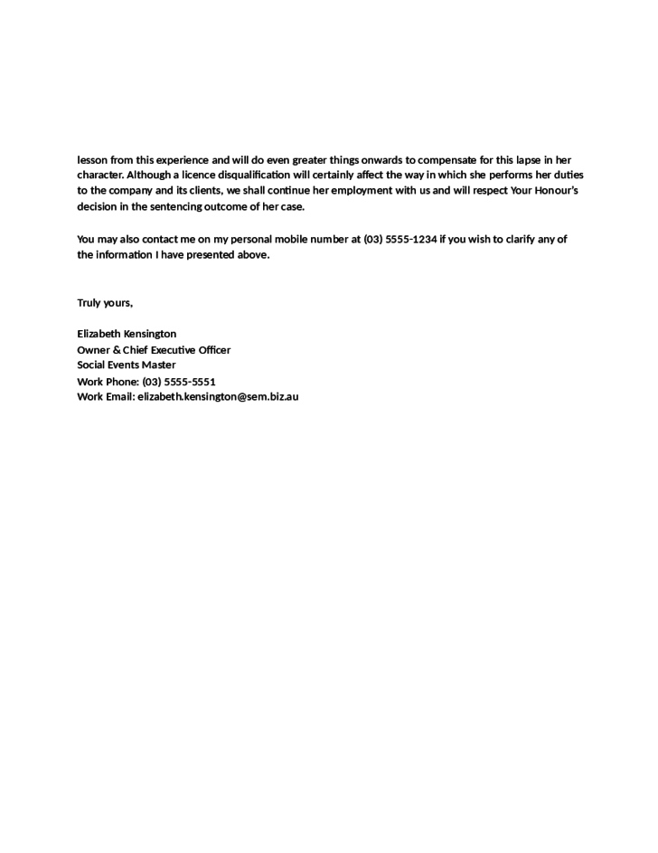 employer cover letter examples