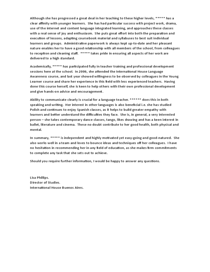 sample character reference letter for advanced students
