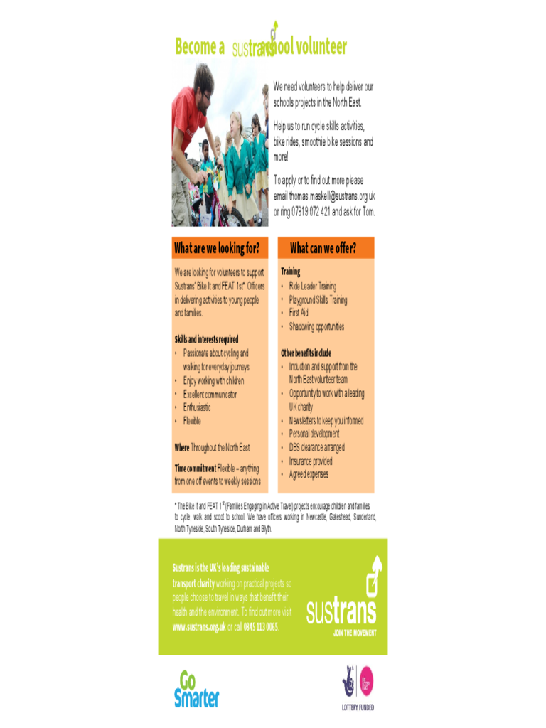 Sustrans events poster