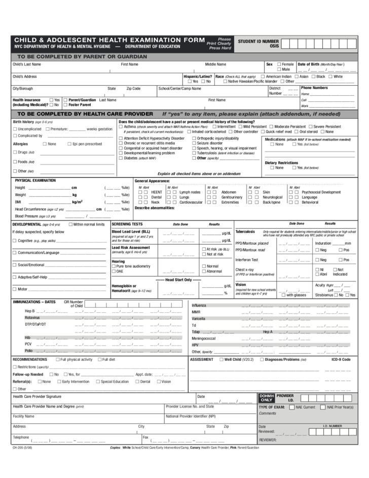 adolescent health screengcu Health history and screening of an adolescent or young adult client save this form on your computer as a microsoft word document you can expand or shrink each area as you need to include the relevant data for your client.