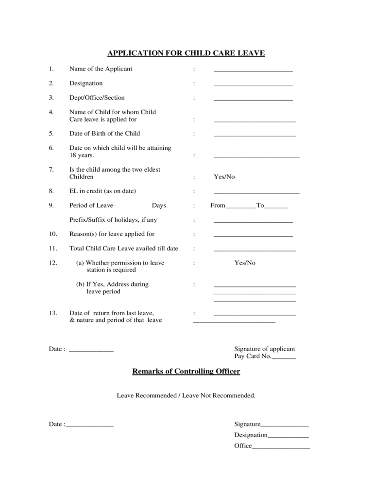 Leave Templates free event proposal template download – Format of Leave Form