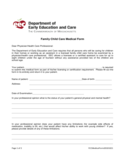 Child Care Medication Form - Massachusetts Free Download