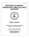 Petition to Modify Parenting Time and Child Support - Arizona