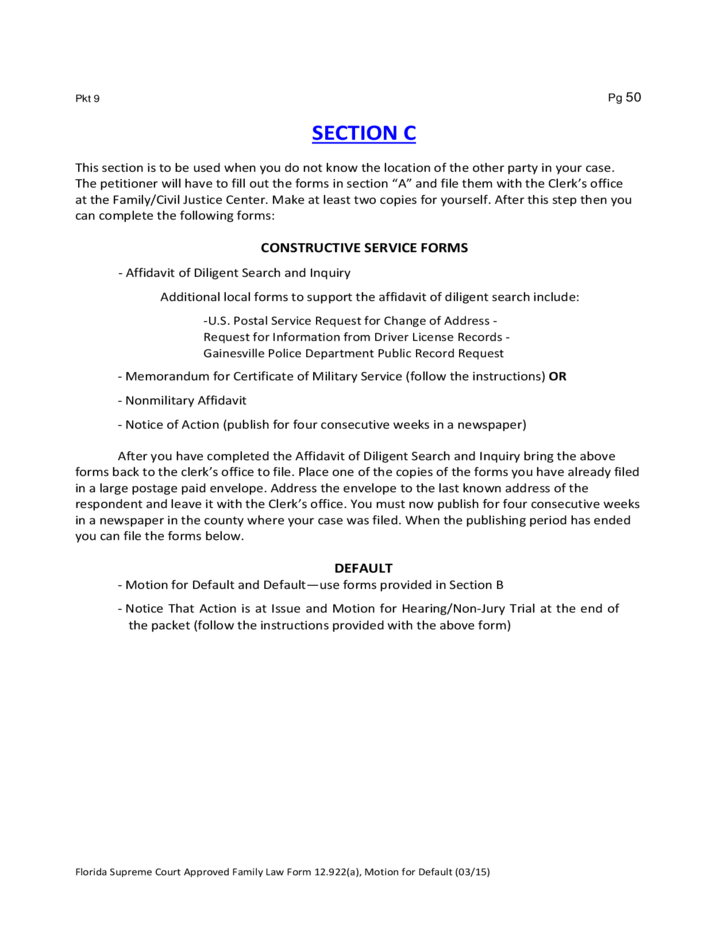 Forms For A Petition For Temporary Custody Florida Free Download