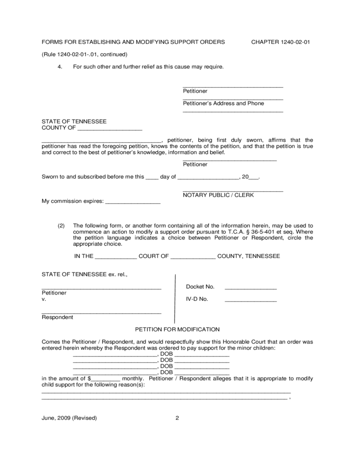 Modifying Child Support Orders