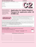 Application for United Kingdom Passport for applicants under 16 Free Download