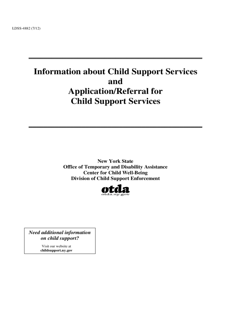 Child Support Form - New York