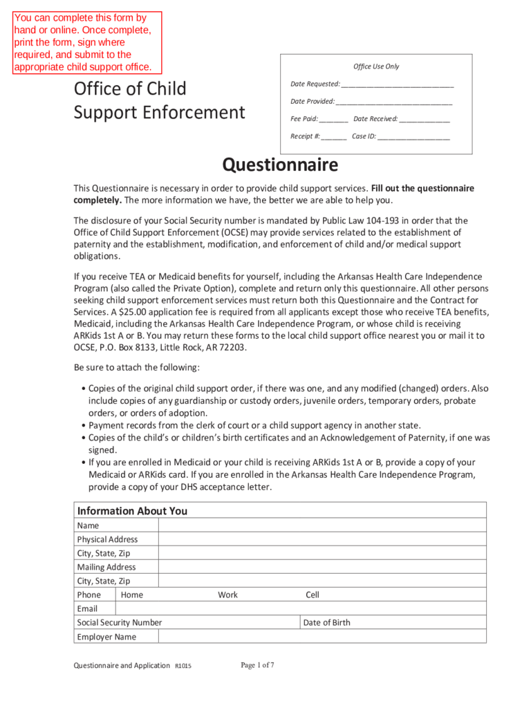 worksheet Maine Child Support Worksheet child support forms 31 free templates in pdf word excel download enforcement form arkansas