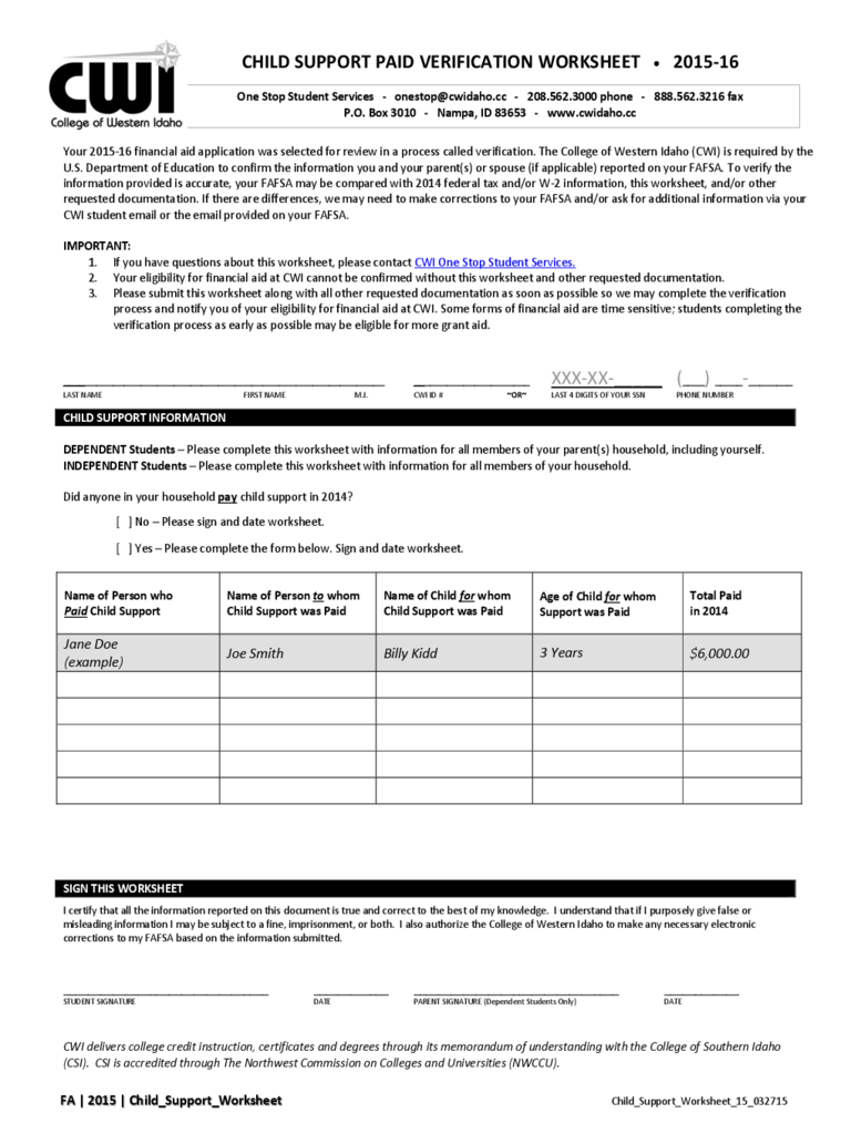 Worksheets Nc Child Support Worksheet A idaho child support worksheet nc a elleapp