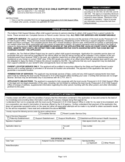 Application for Child Support Services - Indiana