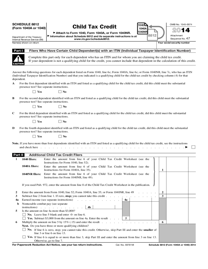 form 1040 child tax credit  Child Tax Credits Form - IRS Free Download