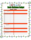 Modern Christmas Budget Form Free Download