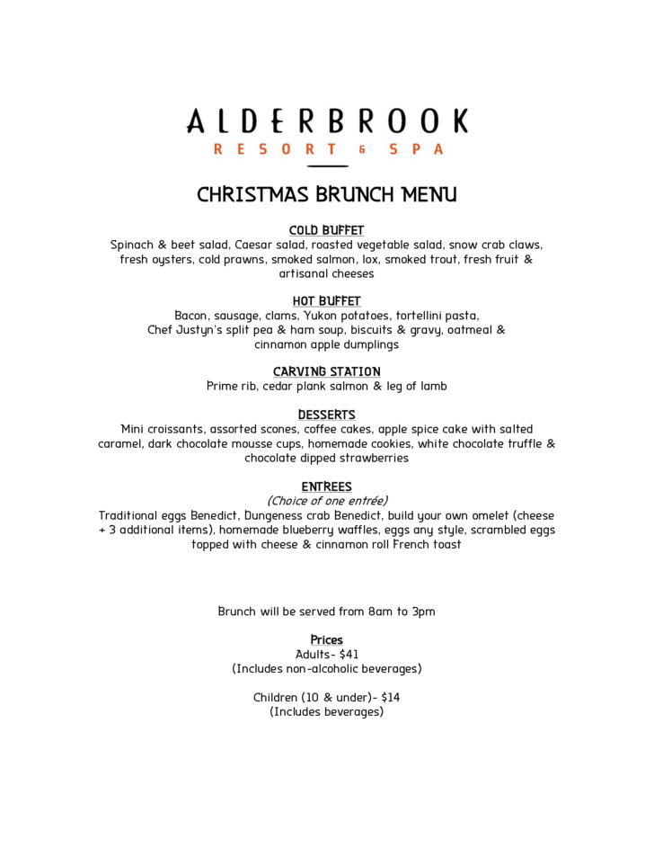 christmas brunch menu free download