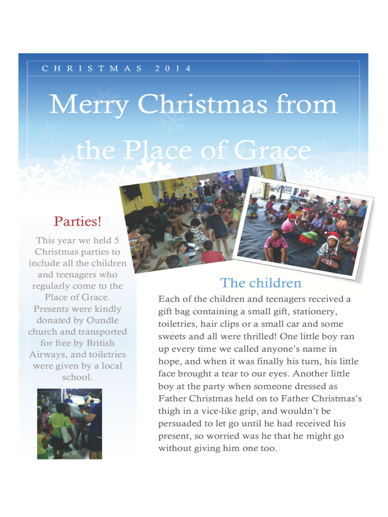 christmas newsletter - St Johns, Woodbridge