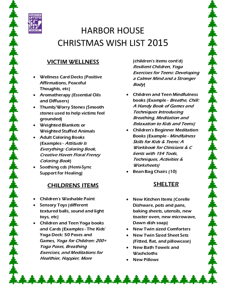 Christmas Wish List Sample Free Download – Sample Christmas List