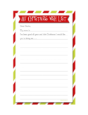 Christmas Gift Wish List Free Download