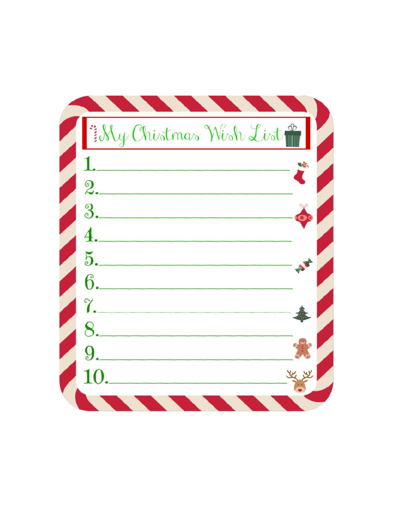 Christmas Wish List Template 8 Free Templates in PDF Word – Christmas Checklist Template