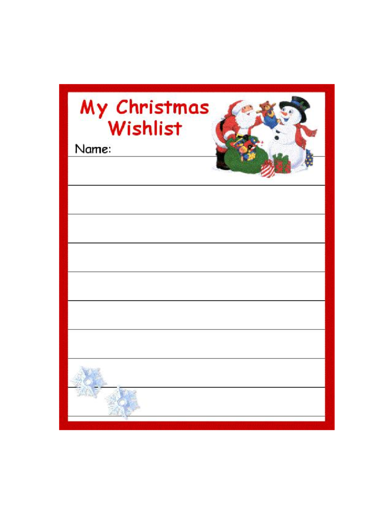 Christmas Wish List Template 8 Free Templates in PDF Word – Christmas Wish List Templates