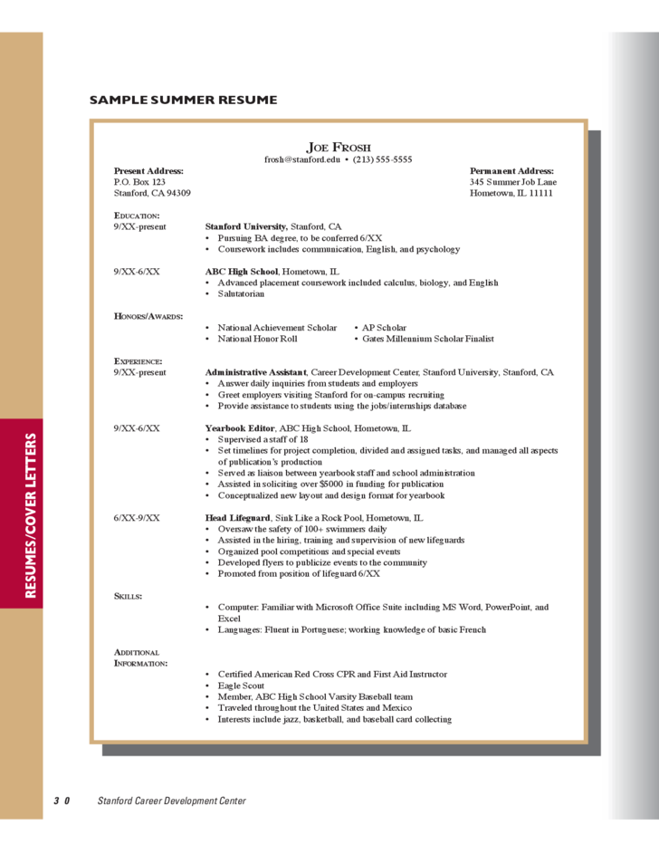 sample resumes and cover letters free download