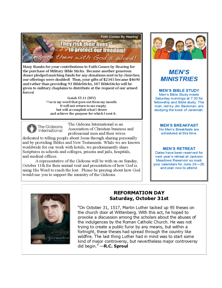 church newsletter sample free download